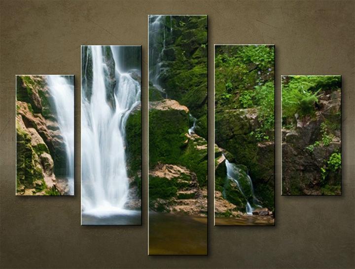 Image of Obraz na stenu 5 dielny VODOPÁDY WWO_0002_5EL (obraz na plátne)
