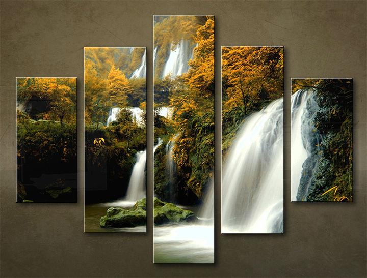 Image of Obraz na stenu 5 dielny VODOPÁDY WWO_0004_5EL (obraz na plátne)