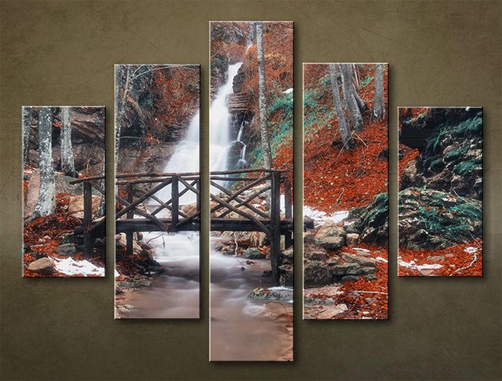 Image of Obraz na stenu 5 dielny VODOPÁDY WWO_0005_5EL (obraz na plátne)