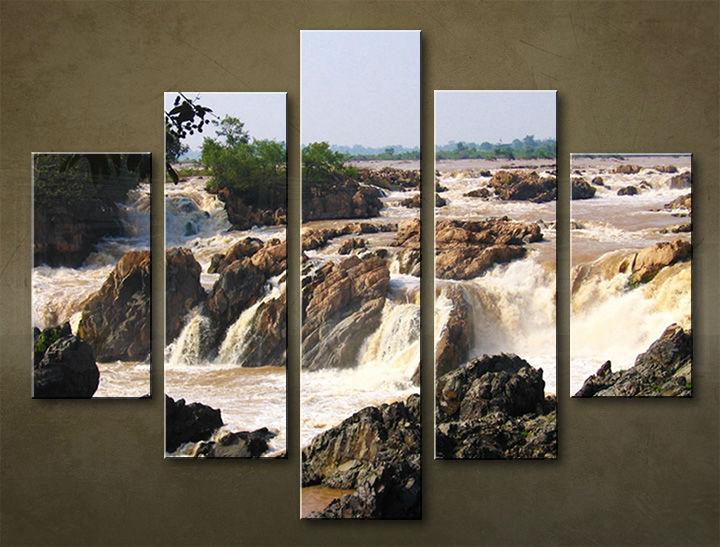 Image of Obraz na stenu 5 dielny VODOPÁDY WWO_0007_5EL (obraz na plátne)