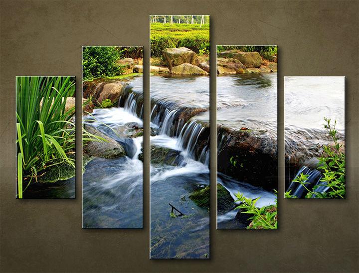 Image of Obraz na stenu 5 dielny VODOPÁDY WWO_0008_5EL (obraz na plátne)