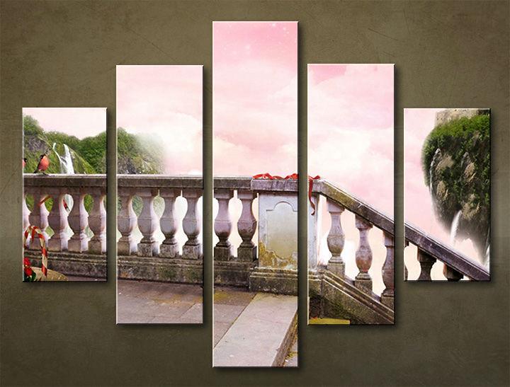 Image of Obraz na stenu 5 dielny VODOPÁDY WWO_0009_5EL (obraz na plátne)