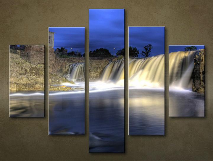 Image of Obraz na stenu 5 dielny VODOPÁDY WWO_0010_5EL (obraz na plátne)