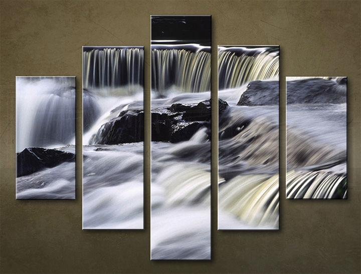 Image of Obraz na stenu 5 dielny VODOPÁDY WWO_0011_5EL (obraz na plátne)