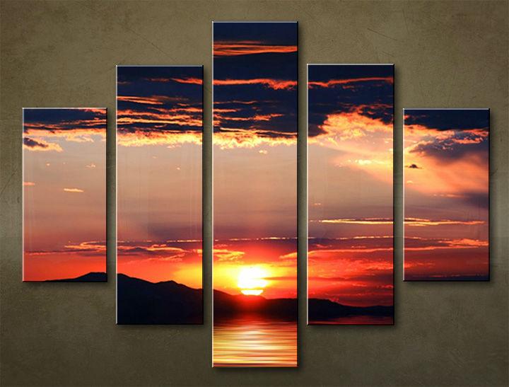 Image of Obraz na stenu 5 dielny ZÁPAD SLNKA WZA_0010_5EL (obraz na plátne)