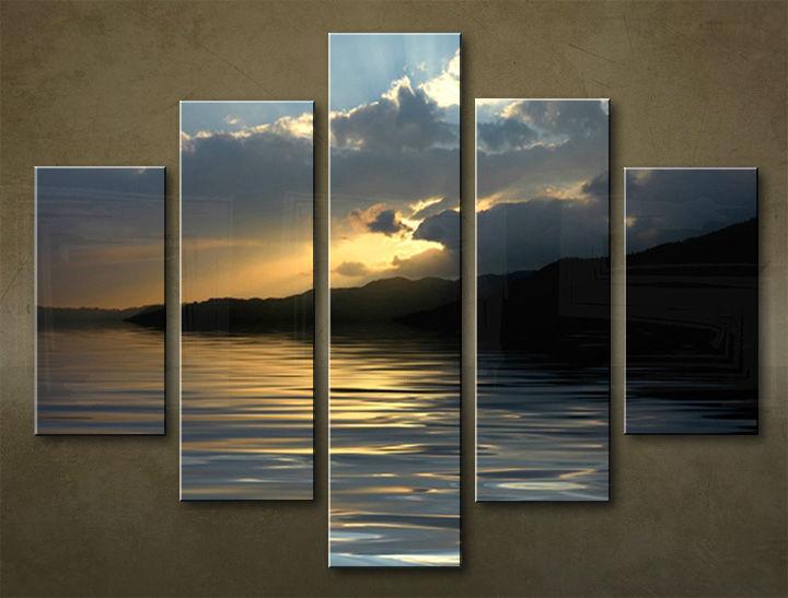 Image of Obraz na stenu 5 dielny ZÁPAD SLNKA WZA_0011_5EL (obraz na plátne)