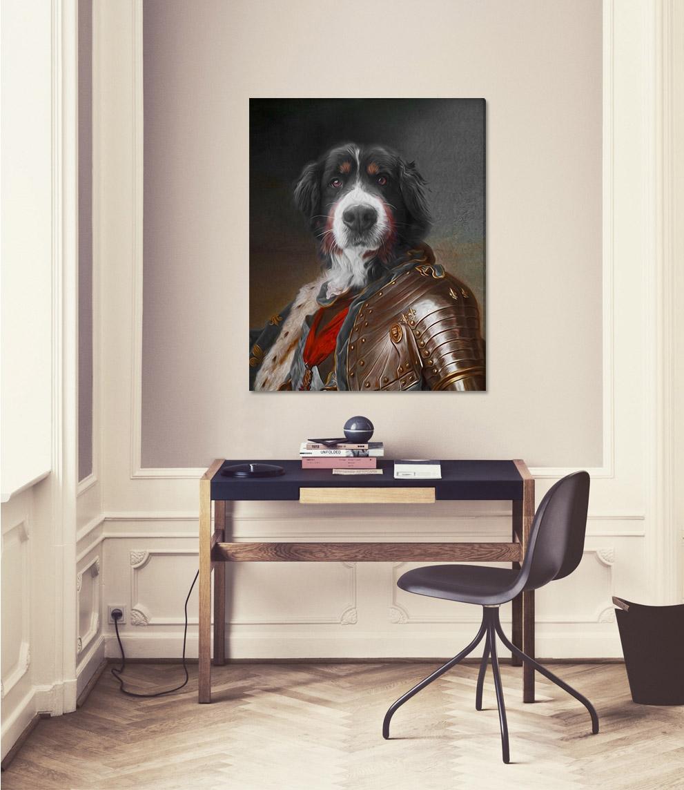 Obraz z fotky na plátne Generál_2 – 50x60 cm (Zvierací portrét)