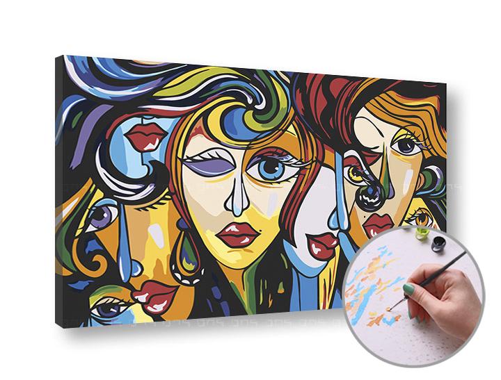 Maľovanie podľa čísel ŽENY – nízka náročnosť (Sada na maľovanie podľa čísel ARTMIE)