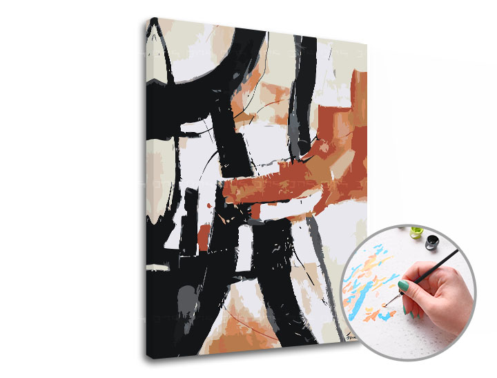Maľovanie podľa čísel V ODTIEŇOCH HNEDEJ – nízka náročnosť (Sada na maľovanie podľa čísel ARTMIE)