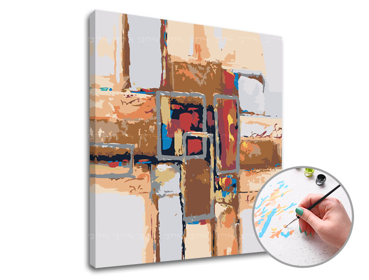 Maľovanie podľa čísel KUBIZMUS – nízka náročnosť (Sada na maľovanie podľa čísel ARTMIE)