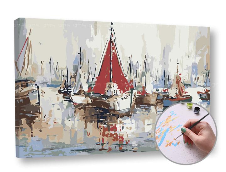 Maľovanie podľa čísel LODE – nízka náročnosť 60x40 cm (Sada na maľovanie podľa čísel ARTMIE)