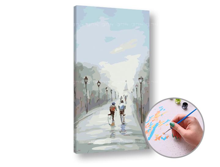 Maľovanie podľa čísel VO DVOJICI – nízka náročnosť 80x40 cm (Sada na maľovanie podľa čísel ARTMIE)