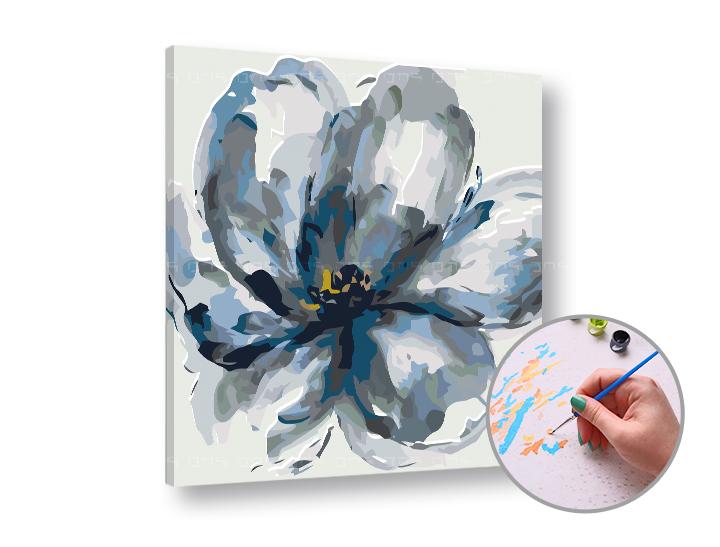 Maľovanie podľa čísel MYSTICKÝ KVET – nízka náročnosť 50x50 cm (Sada na maľovanie podľa čísel ARTMIE)