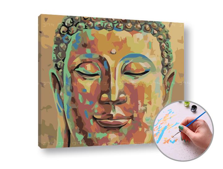Maľovanie podľa čísel SPIACI BUDHA – nízka náročnosť (Sada na maľovanie podľa čísel ARTMIE)
