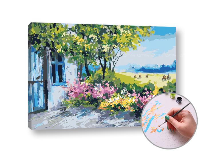 Maľovanie podľa čísel STREDOMORIE – vysoká náročnosť (Sada na maľovanie podľa čísel ARTMIE)