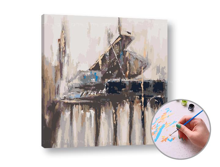 Maľovanie podľa čísel SYMFÓNIA – stredná náročnosť 50x50 cm (Sada na maľovanie podľa čísel ARTMIE)