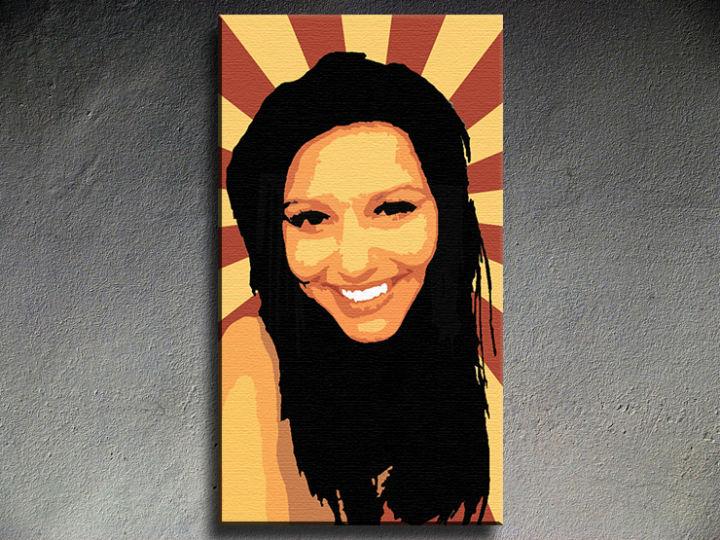 Ručne maľovaný POP Art The Girl 1 dielny 90x50cm zuz - AHD26281