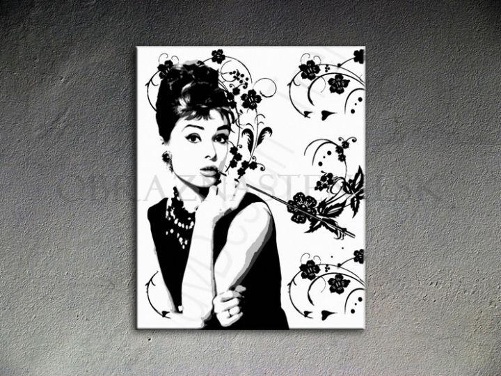Ručne maľovaný POP Art Audrey Hepburn 80x100 cm 0 ah4 - AHD26021