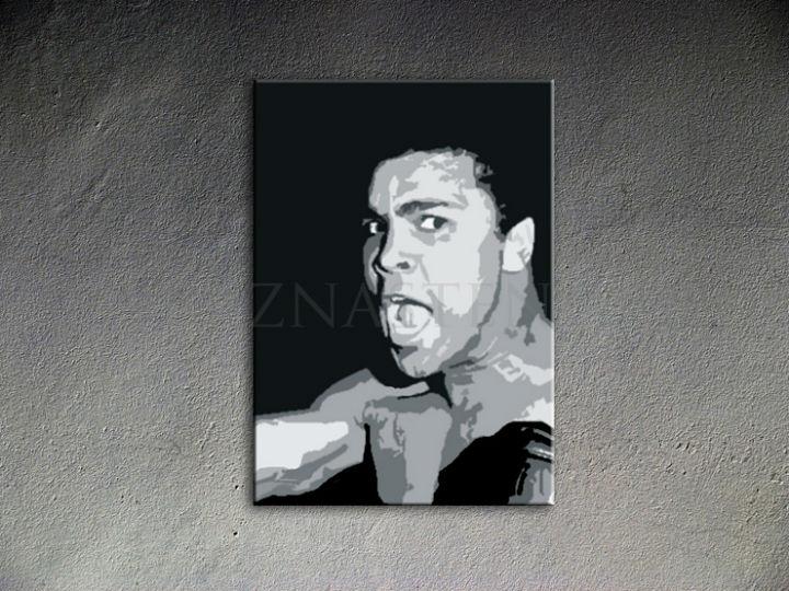 Ručne maľovaný POP Art Muhamad Ali 1 dielny 70x100cm ali - AHD26216