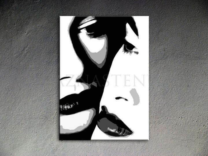 Ručne maľovaný POP Art Two woman 1 dielny 70x100cm 00 2w - AHD26290