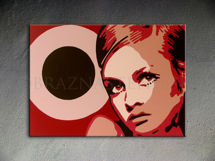 Ručne maľovaný POP Art Twigy 1 dielny 100x70cm 0001 tw - AHD26289