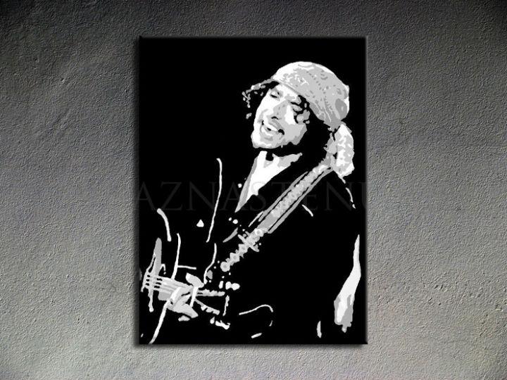 Ručne maľovaný POP Art Bob Dylan 1 dielny 70x100cm bd - AHD26042