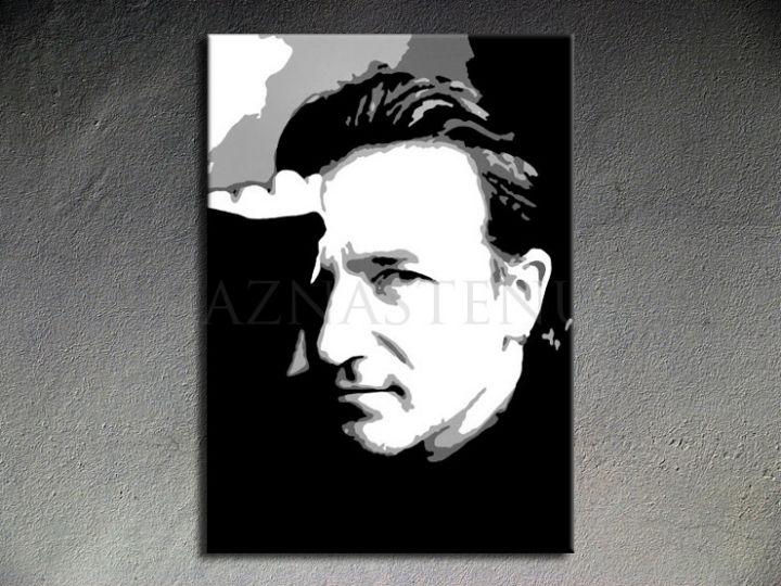 Ručne maľovaný POP Art Bono-U2 1 dielny 70x100cm bono - AHD26046