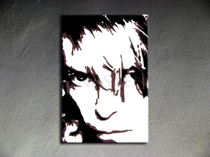 Ručne maľovaný POP Art David Bowie 1 dielny 70x100cm db - AHD26071