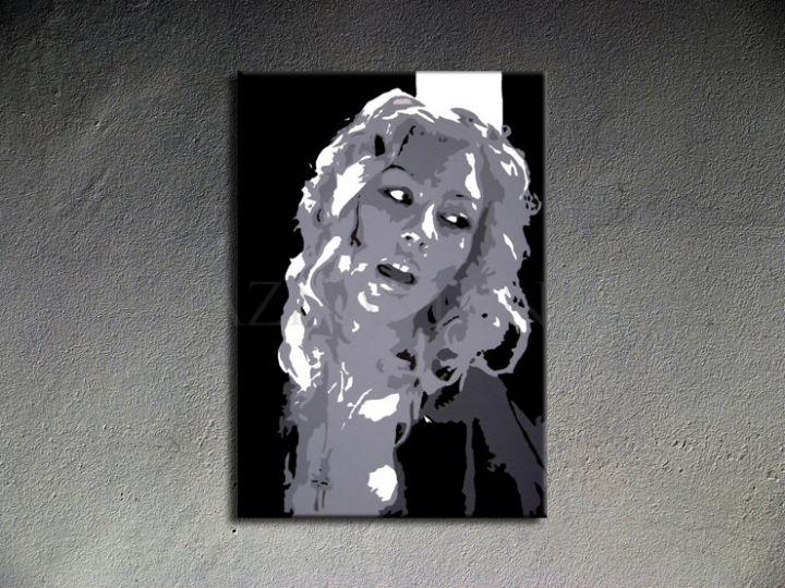 Ručne maľovaný POP Christina Aguilera 1 dielny 70x100cm ca2 - AHD26298