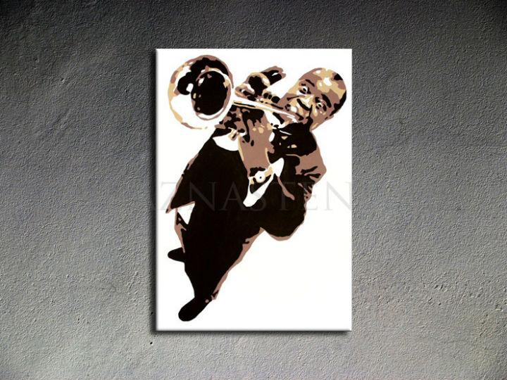 Ručne maľovaný POP Luis Armstrong 1 dielny 70x100cm la - AHD26300