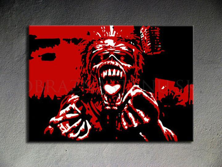 Ručne maľovaný POP Art Iron Maiden 1 dielny 100x70cm im - AHD26141