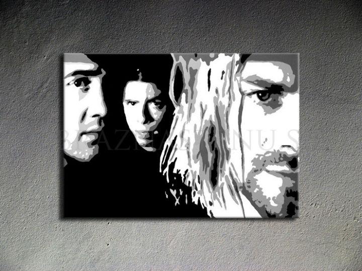 Ručne maľovaný POP Art Nirvana 1 dielny 100x70cm nir - AHD26222
