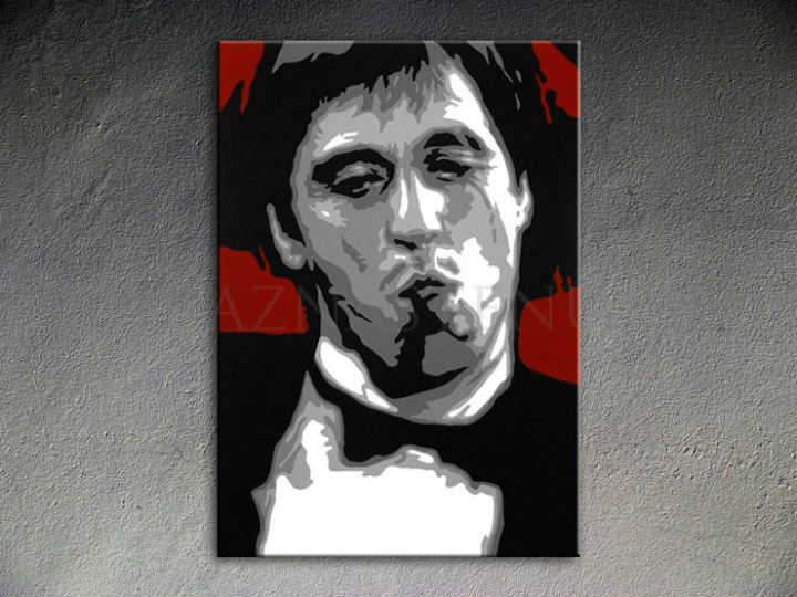 Ručne maľovaný POP Art AL PACINO 1 dielny 70x100cm al12 - AHD25991
