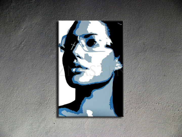 Ručne maľovaný POP Art Angelina Jolie 1 dielny 70x100cm aj - AHD26015
