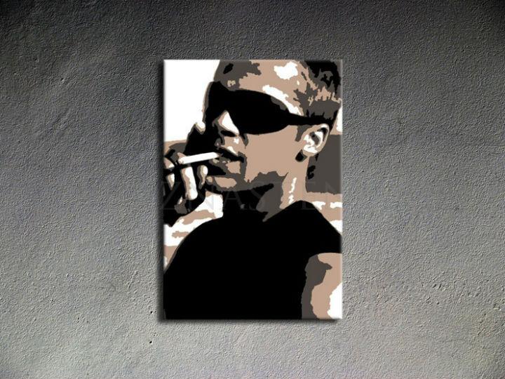 Ručne maľovaný POP Art Brad Pitt 1 dielny 70x100cm bp - AHD26050