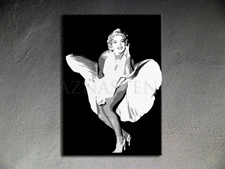 Ručne maľovaný POP Art Marilyn Monroe 1 dielny 70x100cm mon6 - AHD26190