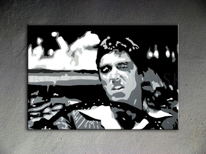 Ručne maľovaný POP Art AL PACINO 1 dielny 100x70cm al13 - AHD25986