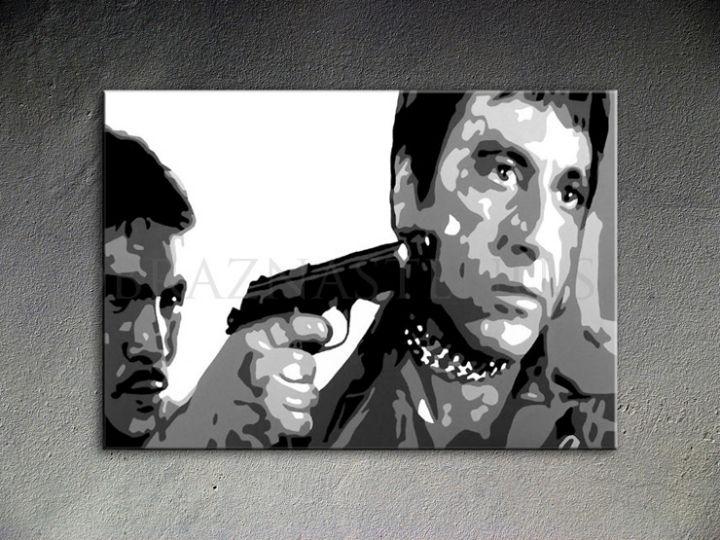 Ručne maľovaný POP Art AL PACINO 1 dielny 100x70cm al20 - AHD25988