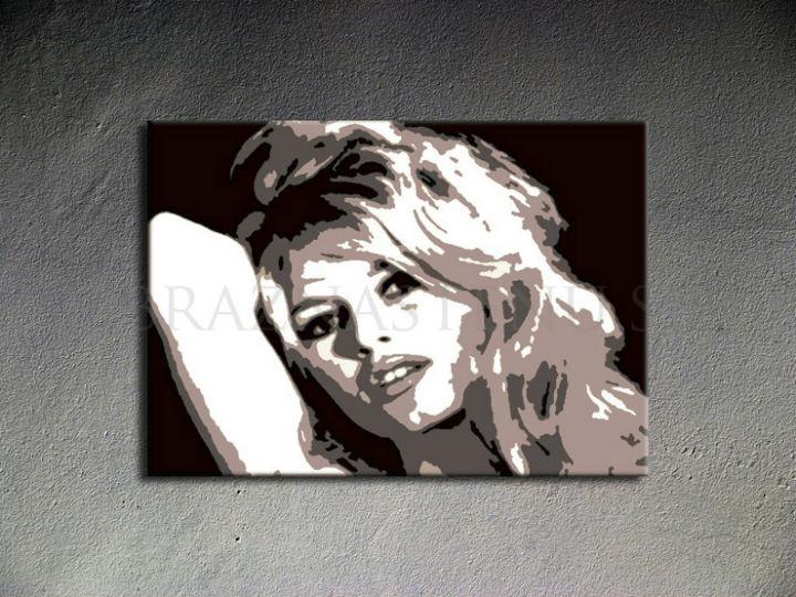 Ručne maľovaný POP Art Brigitte Bardot 1 dielny 100x70cm bar - AHD26053