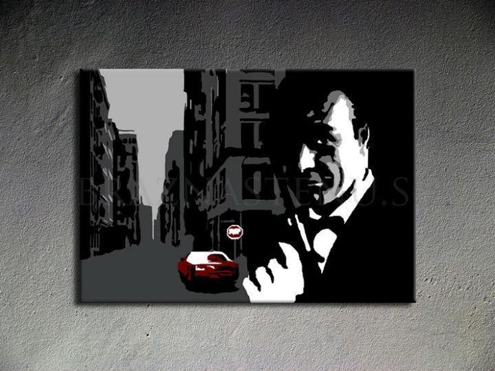 Ručne maľovaný POP Art James Bond 1 dielny 100x70cm bond3 - AHD26145