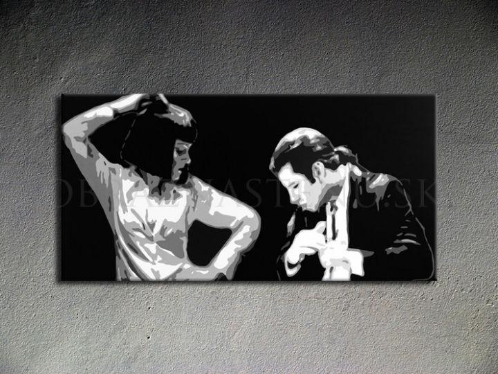 Ručne maľovaný POP Art Pulp Fiction 1 dielny 100x50cm pulp4 - AHD26236
