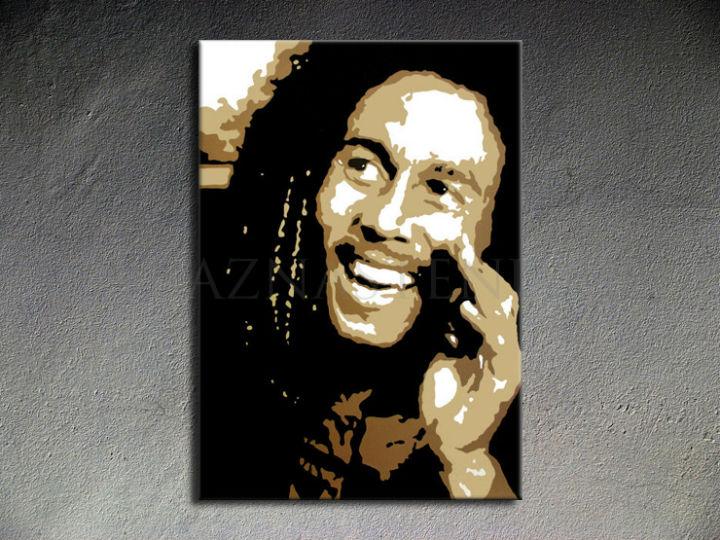 Ručne maľovaný POP Art Bob Marley 1 dielny 70x100cm bm - AHD26043