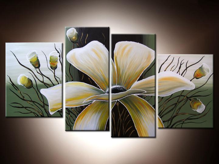 Ručne maľované obrazy - obraz kvety 120x70cm