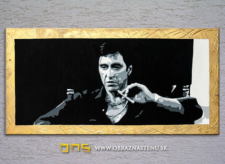 Ručne maľovaný POP Art AL PACINO 3 dielny 100x50cm al_pacino2 - AHD25992