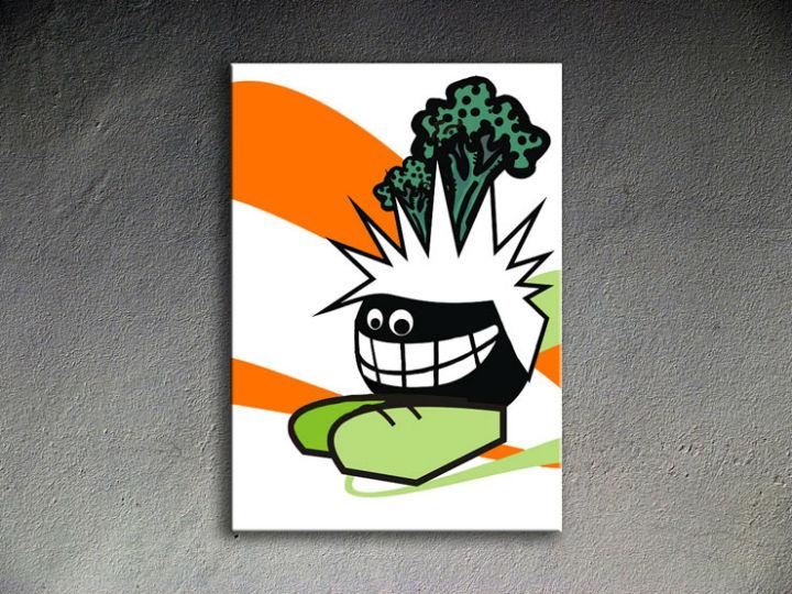 Ručne maľovaný POP Art Funny 1 dielny 70x100cm funy - AHD26108