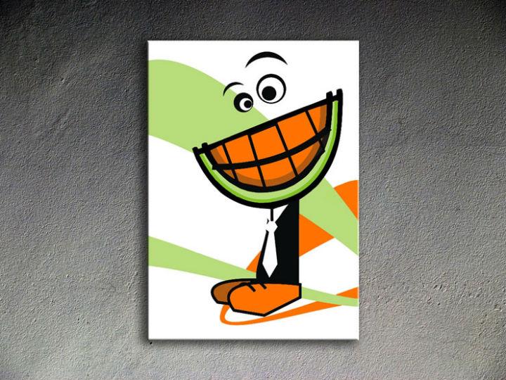 Ručne maľovaný POP Art MELON 1 dielny 70x100cm melon - AHD26206