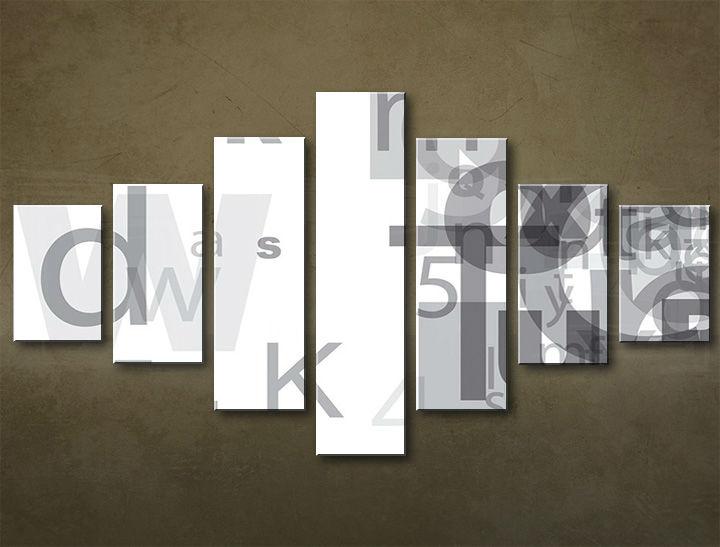 Image of Obraz na plátne 7 dielny ABSTRAKT ABI_0001_7EL (obrazy na stenu)
