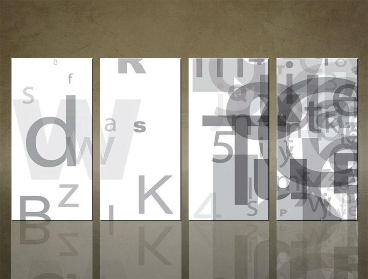 Image of Obraz na stenu 4 dielny ABSTRAKT ABI_0001_4ELX (obrazy na plátne)