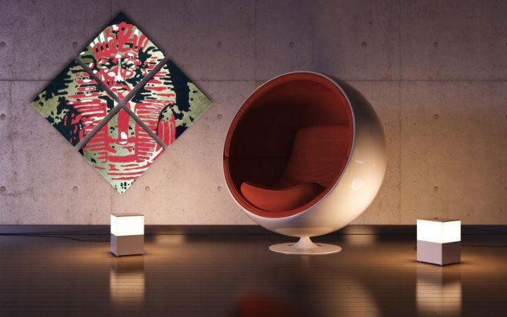Ručne maľovaný POP Art obraz Tutan Chamon 4 dielny tu (POP ART obrazy)