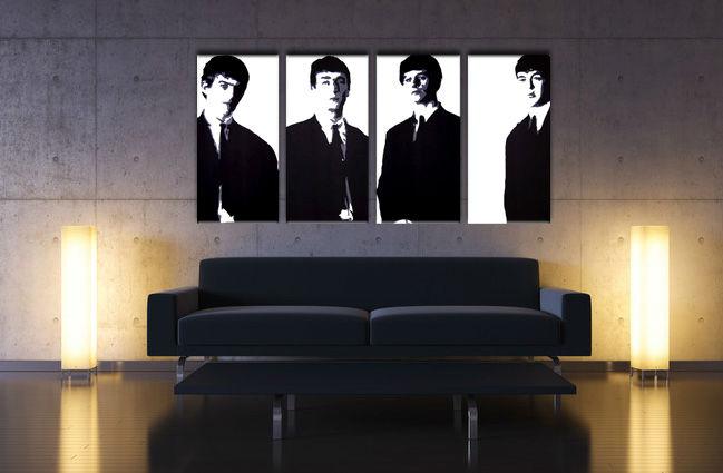 Ručne maľovaný POP Art obraz Beatles 4 dielny bea3 (POP ART obrazy)